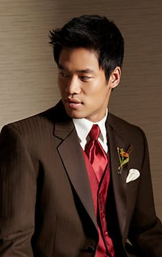 Complement a casual #wedding with a Wilke-Rodriguez Two-Button Black Satin Edge Notch Lapel #tuxedo.