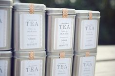 21 Awesome Wedding Favors That Are Not Jam! ~ we ♥ this! moncheribridals.com  #edibleweddingfavors  #teaweddingfavors