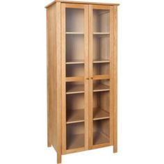 buy kew 3 glass doors display cabinet oak effect at. Black Bedroom Furniture Sets. Home Design Ideas