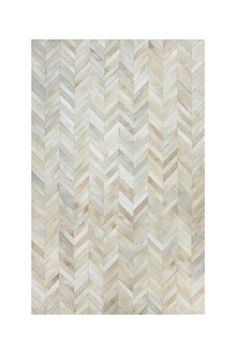 Chevron Leather Pile Rug - White by Bashian on @HauteLook