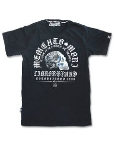 Liquor Brand Herren MEMENTO MORI II T-Shirts.Tattoo,Biker,Oldschool,Custom Style