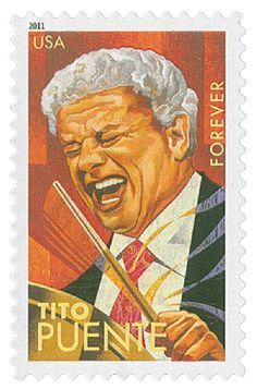 2011 First-Class Forever Stamp - Latin Music Legends: Tito Puente Latin Music, Latin Dance, Dance Music, Salsa Music, Salsa Dance, Puerto Rican Culture, Puerto Rico History, Puerto Ricans, Stamp Collecting