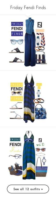 """Friday Fendi Finds"" by michele-nyc ❤ liked on Polyvore featuring Fendi, BasicGrey, A.F. Vandevorst, Emporio Armani, Vince, David Yurman, Olivia Burton, Frame and Peter Pilotto"