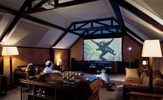 home theater attic