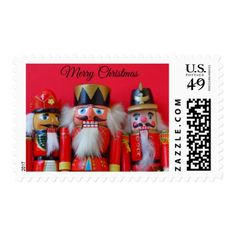 Nutcrackers in red uniforms postage - Xmas ChristmasEve Christmas Eve Christmas merry xmas family kids gifts holidays Santa