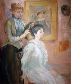 Artist#berthemorisot #베르트모리조 . 마네의 뮤즈로도 유명한 19세기 여류작가인 베리트 모리조의 작품이예요. 여성들의 모습을 주로 그렸는데, 여성스럽고 색채가 예뻐용