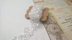 Sequins lace trim, ivory, sequins trim, for scrapbooking and craft projects, 2 yards Sewing Projects, Craft Projects, Plant Illustration, How To Look Pretty, Yards, Lace Trim, Fiber, Scrapbooking, Ivory