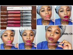 First Class, Instigator, Chilly Chili, Bad Habit, More Better Colour Pop, Make Up Dupes, Lip Swatches, Bad Habits, Matte Lips, Liquid Lipstick, Dark Skin, Lip Colors