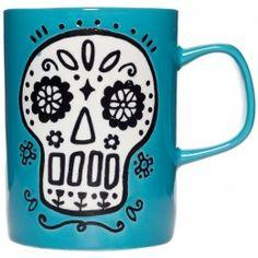 CUPPA THIS BLUE SUGAR SKULL COFFEE MUG