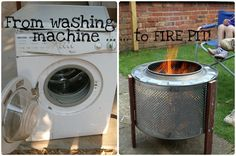 How to make your own fire pit out of a washing machine