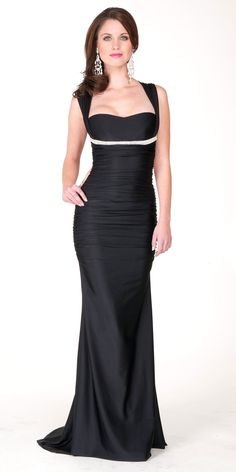 Love this dress! It's classy and sophisticated. Remember, you don't have to be TOTALLY covered at a ball. A little bit of skin in one area is just fine!