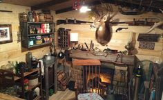 Sometimes, a man just needs a place of his own to go hide from the outside world, enjoy a beer and be in the company of stereotypically manly shit like guns, taxidermy and a whole lot of wood. Redd...