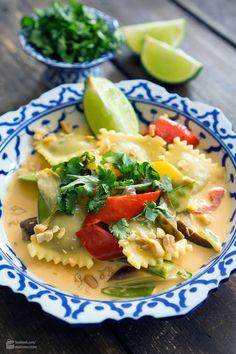 Thai-Curry mit Hilcona Spinat-Ravioli   Madame Cuisine Rezept