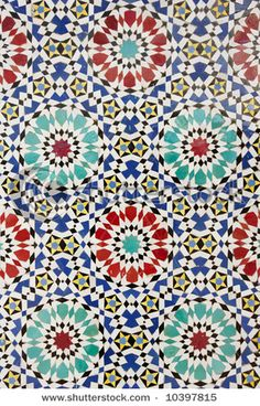 Middle Eastern tile accents