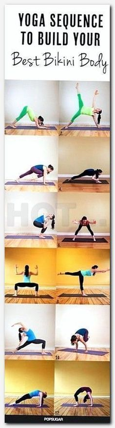 A Dynamic Yoga Sequence To Help You Build A Stronger Body Total Body Sequence Quarter Dog Balancing Star Knee Up Plank Burning Low Lunge Side Fierce Extended Standing Straddle Goddess Warrior 3 Crescent Moon Crow Intense East Wheel Bikini Fitness, Yoga Fitness, Sport Fitness, Bikini Workout, Fitness Tips, Fitness Motivation, Health Fitness, Fat Workout, Fitness Exercises