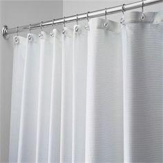 Carlton Diamond Weave 96 Extra Long Fabric Shower Curtain By Interdesign