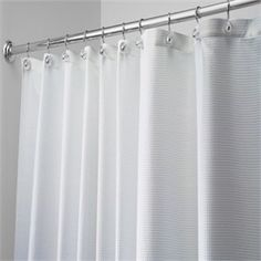 "Carlton Diamond Weave 96"" Extra Long Fabric Shower Curtain by Interdesign"