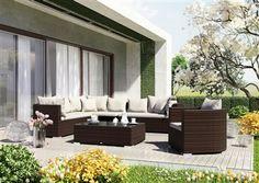 venezia sedacia suprava z umeleho ratanu modern 4 Outdoor Sectional, Sectional Sofa, Outdoor Furniture Sets, Outdoor Decor, 3, Design, Home Decor, Modular Couch, Decoration Home