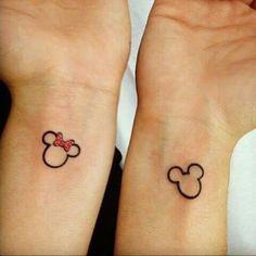 grafika tattoo, mickey, and minnie