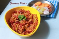Beetroot Pulao, a color fl platter with full aromatic flavours, i saw lot of recipes for beetroot pulao, this one is special and i fixed this procedure to my own style, of how i make other vegie rice bowls. Savoury Rice Recipe, Savory Rice, Rice Bowls, Rice Dishes, Rice Recipes, Indian Food Recipes, Biryani Recipe, South Indian Food, Beetroot