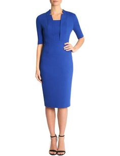 Cobalt Ponti Dress