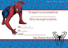 Escolher os convites de festa de aniversário do Homem Aranha como tema para festa de aniversário infantil de menino é sempre uma boa idéia, pois bem sabemo