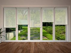 Cream Sun Screen Sheer, Voile & Screen - Blinds for Bifold Doors