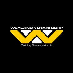 Fictional company from the Alien franchise, this logo uses both the W and Y, from the companies name, layered on top of each other to create the logo. the layering and the font used allows this logo to fit into the fictional world of Alien. Saga Alien, Alien Film, Aliens Movie, Aliens And Ufos, Wayland Yutani, Science Fiction, Giger Alien, Film Logo, Alien Covenant