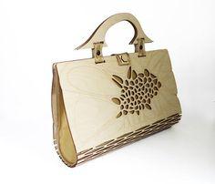 VENTA Bolso de madera bolso de embrague bolso de las