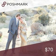 Spotted while shopping on Poshmark: Gold Maternity Gown! #poshmark #fashion #shopping #style #Dresses & Skirts