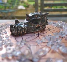 Pyrite Dragon carving