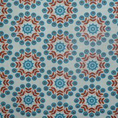Lisbonne Extra Wide Acrylic Oilcloth in Orange The motif is almost 7 cms to give you an idea of the scale Width approx 161 cms This is Acrylic and
