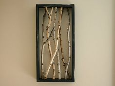 InlandElements Natural White Birch Distressed Wall Art