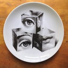 Fornasetti plate-original - made by Fornasetti factory -vintage unused # 112