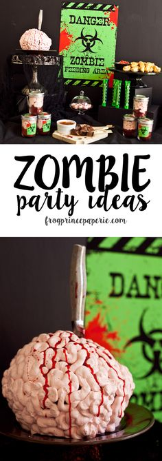 Throw a dead man's party this Halloween - search our gruesome tome for Zombie Party Ideas, recipes and free printables for the walking dead!