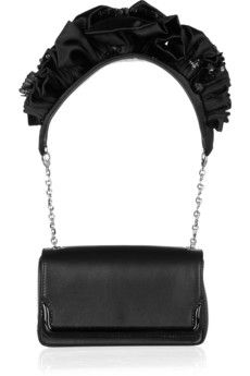 Wasn't sure about this until I saw the picture of it in action.  Could see it with a cute strapless dress!  I mean, c'mon, it's CHRISTIAN!  Christian Louboutin Artemis ruffled leather shoulder bag | THE OUTNET