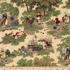 Little Red Riding Hood Toille Antique $7.82/y Designer Faye Burgos Manufacturer Marcus Brothers Collection Little Red Riding Ho