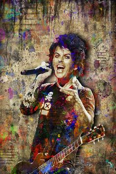Billie Joe Armstrong of Green Day Poster, Billie Joe Armstrong Portrai                      – McQDesign