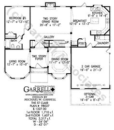 St. Clair House Plan | House Plans by Garrell Associates, Inc