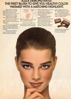 Brooke Shields' eyebrows are perfect Brooke Shields, Vintage Makeup, Vintage Beauty, Bold Brows, Beauty Ad, Le Jolie, Pretty Baby, Classic Beauty, Famous Faces