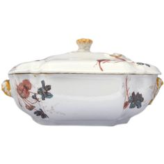 Antique Covered Serving Dish Haviland Limoges (€54) ❤ liked on Polyvore featuring home, kitchen & dining, serveware, thanksgiving serveware, floral dishes, haviland dishes, thanksgiving dinner dishes and thanksgiving dish