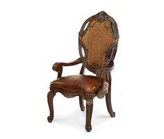 Leather/Fabric Arm Chair Essex Manor Collection®  Michael Amini Furniture Designs   amini.com