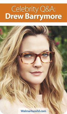 Drew Barrymore dishes on her new Flower eyewear sold exclusively at Walmart, her biggest guilty pleasures and more with Walmart World. #drewbarrymore #flowereyewear #style