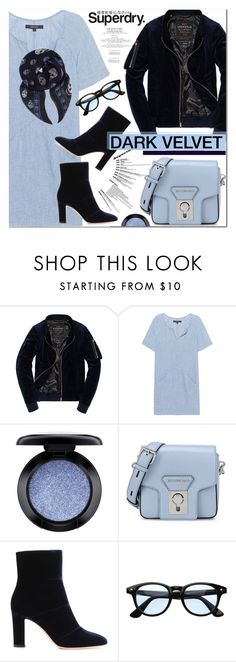 """""""The Cover Up – Jackets by Superdry: Contest Entry"""" by nanawidia ❤ liked on Polyvore featuring J Brand, MAC Cosmetics, Superdry, Karl Lagerfeld, Gianvito Rossi and Alexander McQueen"""