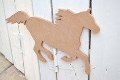 Unfinished Wooden Decor - Running Horse Shape - Ready to paint or DIY!