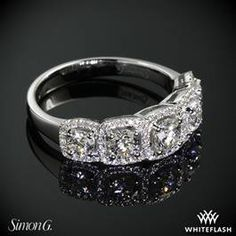 Simon G MR2630 Caviar Right Hand Ring