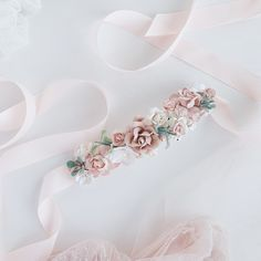 Excited to share this item from my #etsy shop: Bridal sash, Blush Flower Sash belt, Bridal sash Belt, Blush pink flower sash, Sash with flowers, Wedding belt #weddings #accessories #pink #white #pinksashbelt #wristcorsage #blushpinksash #bridalsash #floralsash