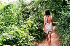 Love this backless white romper. Great summer peice! Via: urban outfitters
