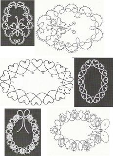 Tatted frames pattern