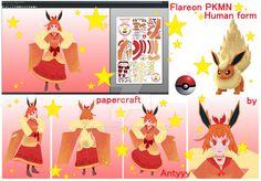 Flareon (Human form) papercraft release by Antyyy.deviantart.com on @DeviantArt